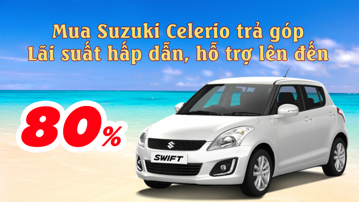 mua suzuki swift tra gop ngan hang