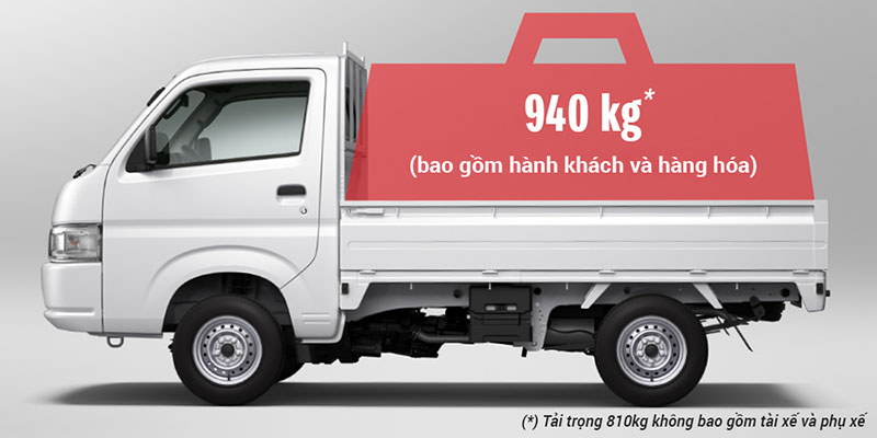 xe tai suzuki 900kg tai trong 900kg