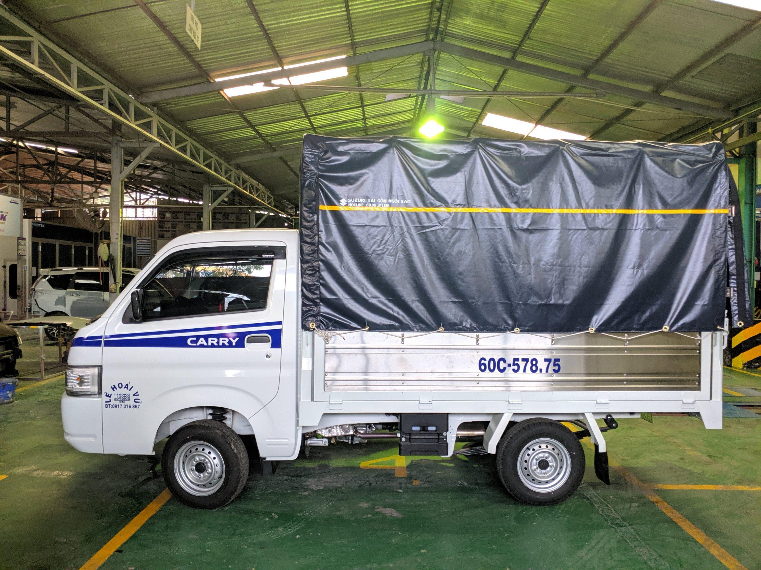 xe tải suzuki 750kg thùng bạt